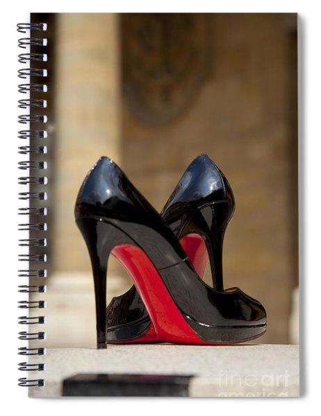 Spiral Notebook featuring the photograph Louboutin Heels by Brian Jannsen