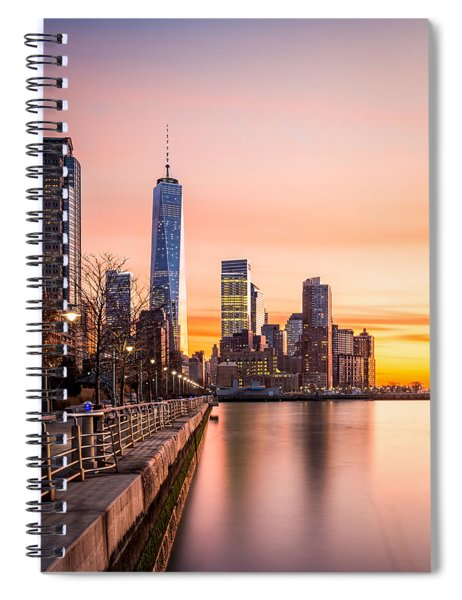 Lower Manhattan At Sunset Spiral Notebook
