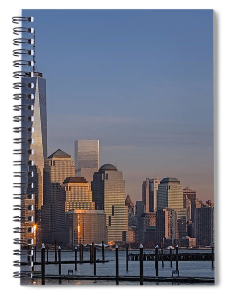 Lower Manhattan Skyline Spiral Notebook