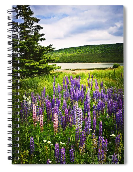 Lupin Flowers In Newfoundland Spiral Notebook