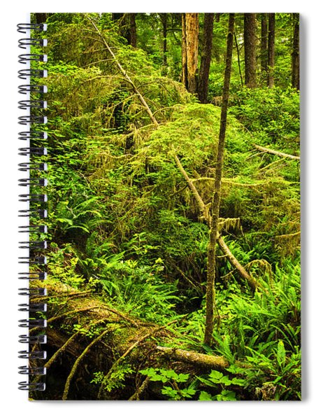 Lush Temperate Rainforest Spiral Notebook