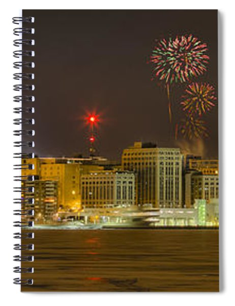 Madison New Years Eve Spiral Notebook