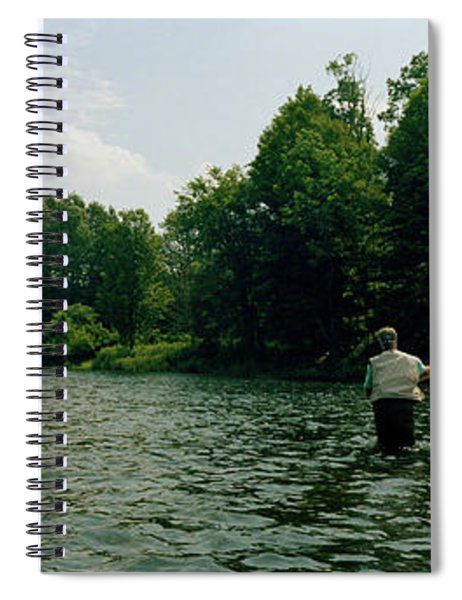 Man Fly-fishing In A River, Delaware Spiral Notebook