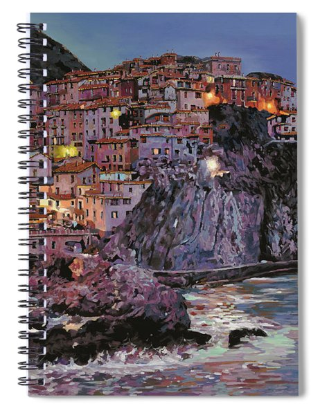 Manarola At Dusk Spiral Notebook