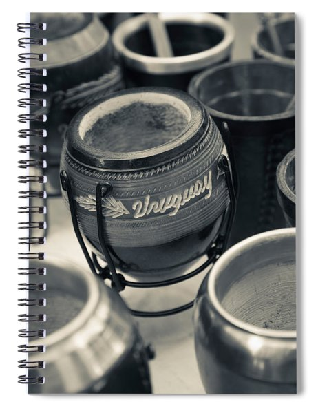 Mate Cups At A Market Stall, Plaza Spiral Notebook