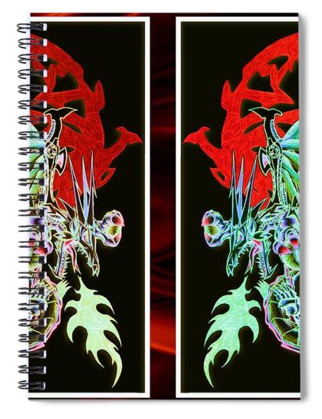 Mech Dragons Pastel Spiral Notebook