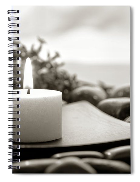 Meditation Candle Spiral Notebook by Olivier Le Queinec