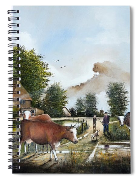 Milking Time Spiral Notebook
