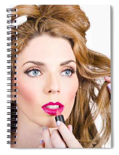 Model Makeup At Work Spiral Notebook