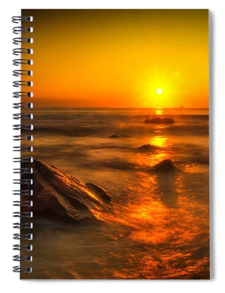 Montauk New York Summer Sunrise Spiral Notebook