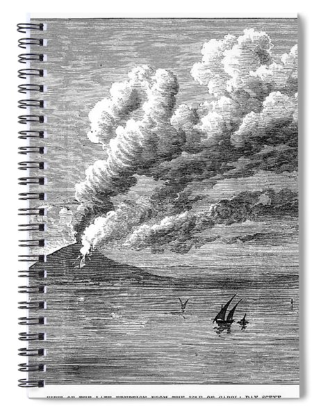Mount Vesuvius, 1872 Spiral Notebook