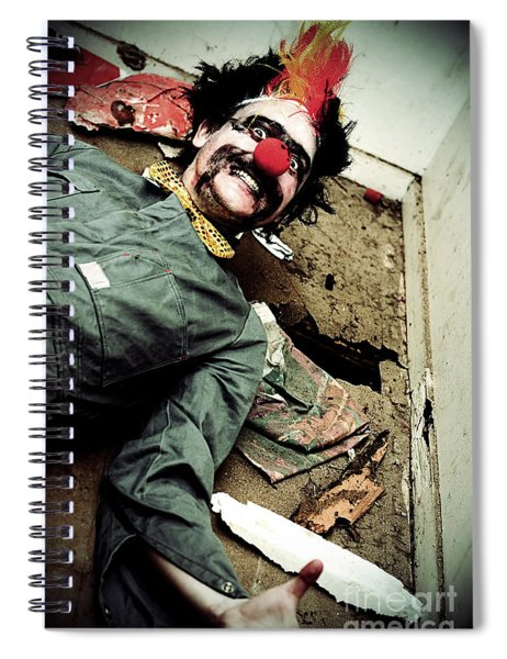 Mr Sleepy The Creepy Clown Spiral Notebook
