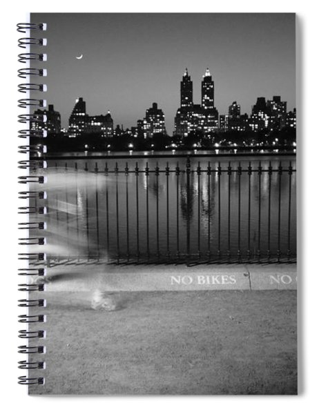 Night Jogger Central Park Spiral Notebook