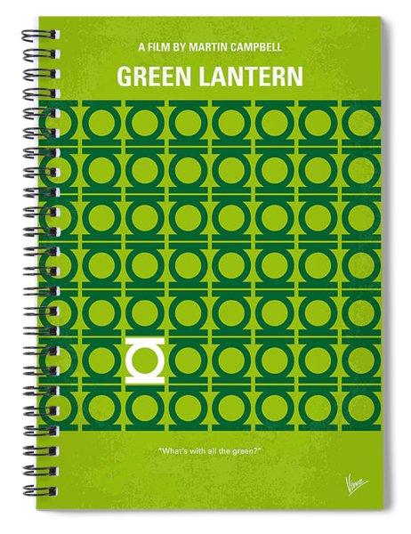 No120 My Green Lantern Minimal Movie Poster Spiral Notebook