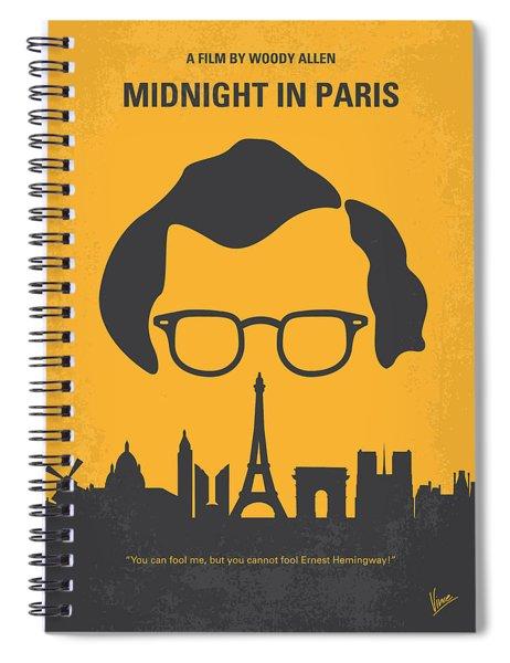 No312 My Manhattan Minimal Movie Poster Spiral Notebook