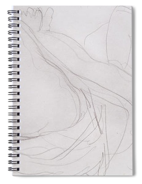 Nude Spiral Notebook by Auguste Rodin