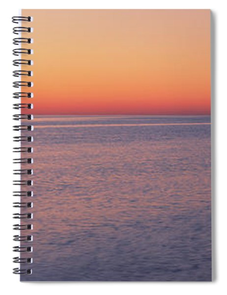 Ocean At Sunset, Provincetown, Cape Spiral Notebook