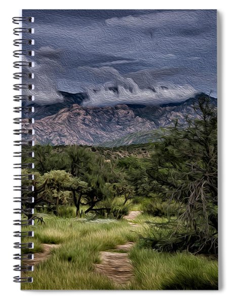 Odyssey Into Clouds Oil Spiral Notebook