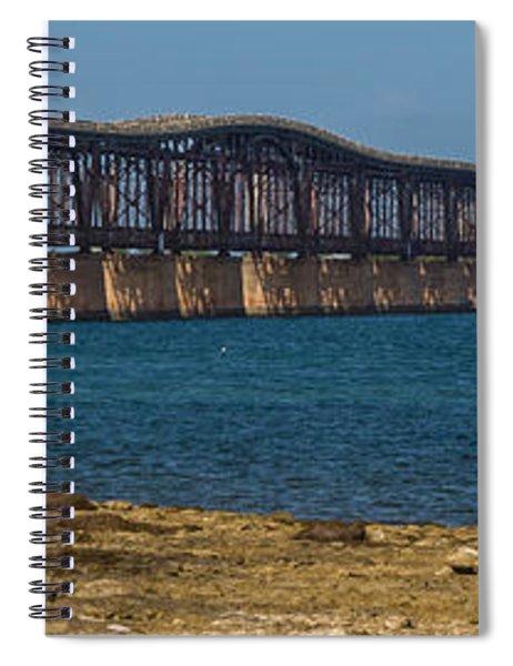 Spiral Notebook featuring the photograph Old Bahia Honda Bridge by Ed Gleichman