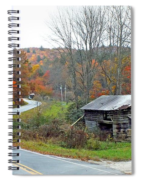 Old Barn Along Slick Fisher Road Spiral Notebook