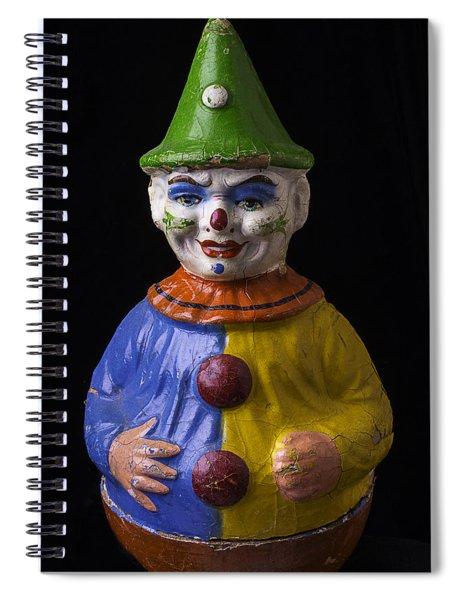 Old Clown Toy Spiral Notebook