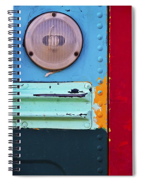 Spiral Notebook featuring the photograph Old School by Skip Hunt