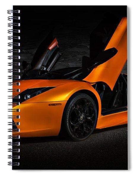 Orange Murcielago Spiral Notebook