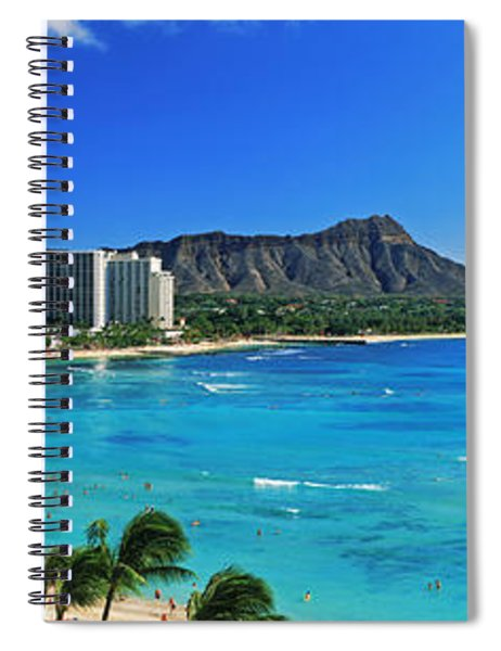 Palm Trees On The Beach, Diamond Head Spiral Notebook