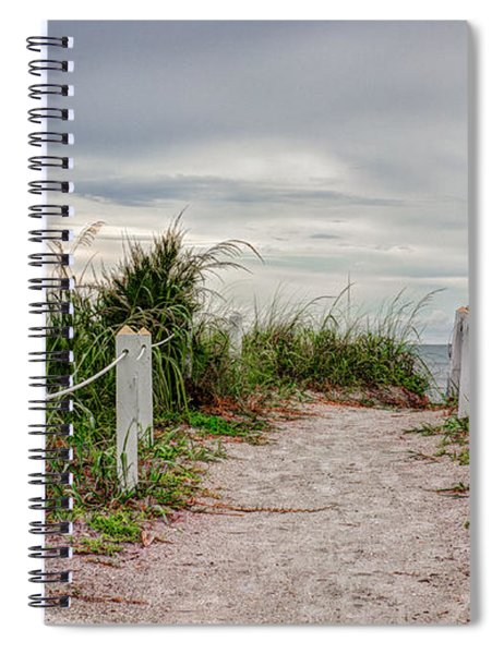 Spiral Notebook featuring the photograph Pathway To The Beach by Robert Bellomy