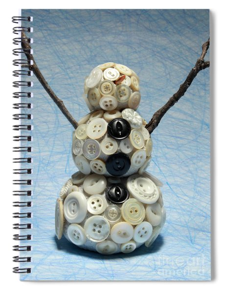 Pearly Snowman Christmas Card Spiral Notebook