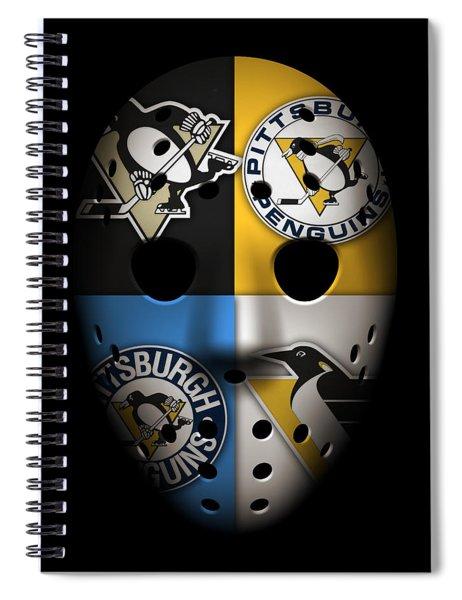 Penguins Goalie Mask Spiral Notebook