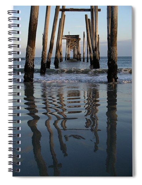 Pier Reflections Spiral Notebook