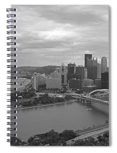 Pittsburgh - View Of The Three Rivers Spiral Notebook
