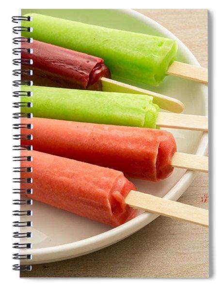 Popsicles Ice Cream Frozen Treat Spiral Notebook