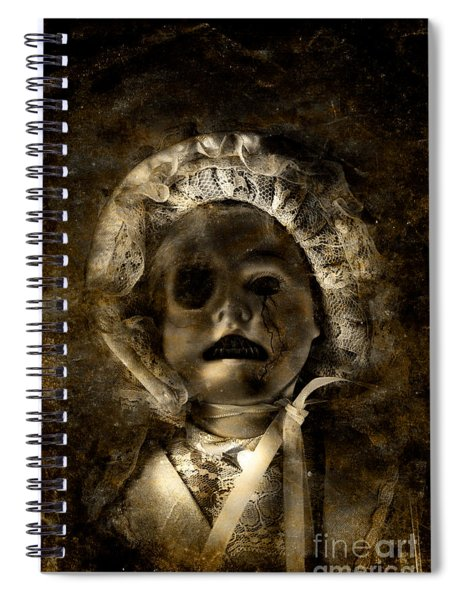 Porcelain Doll Crying Tears Of Cracks Spiral Notebook