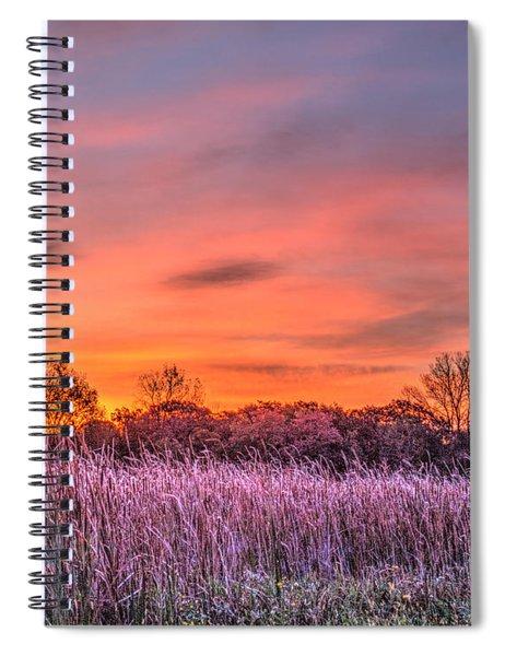 Illinois Prairie Moments Before Sunrise Spiral Notebook