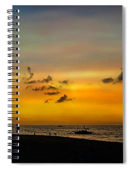 Puka Beach Sunset Spiral Notebook