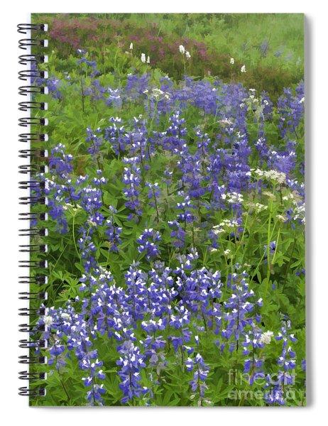 Rainier's Wildflowers Spiral Notebook