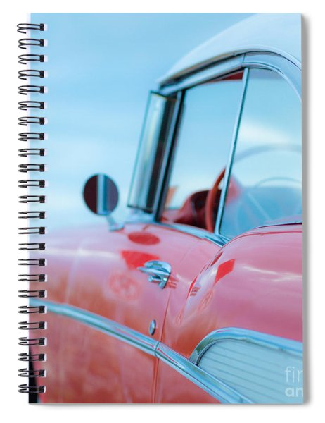 Red Chevy '57 Bel Air At The Beach Square Spiral Notebook