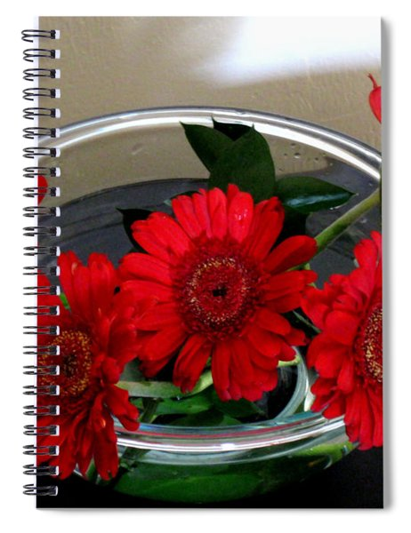 Red Flowers. Special Spiral Notebook