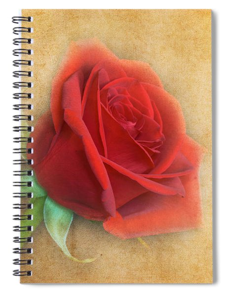 Spiral Notebook featuring the photograph Red Rose  by Garvin Hunter