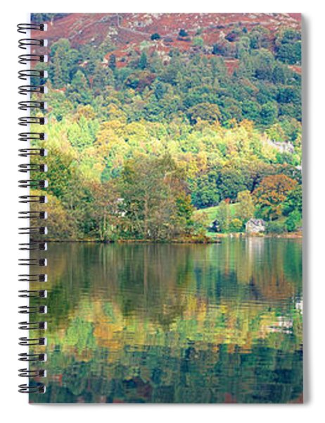 Reflection Of Trees In A Lake Spiral Notebook