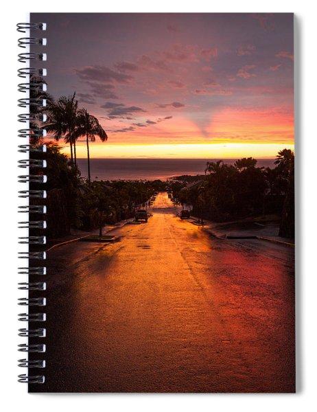 Sunset After Rain Spiral Notebook