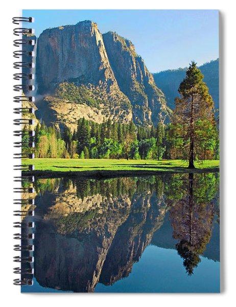 Reflections Of Yosemite Falls Spiral Notebook