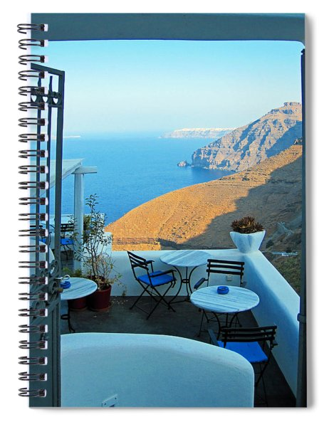 Resting Place In Santorini Spiral Notebook