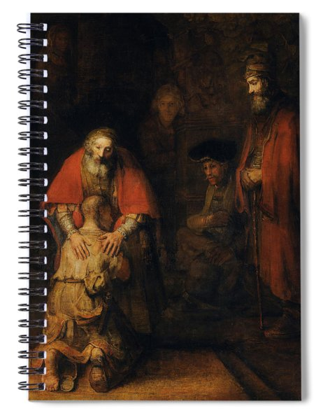 Return Of The Prodigal Son Spiral Notebook