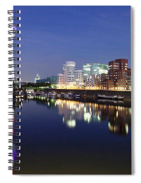 Rheinturm Tower And Gehry Buildings Spiral Notebook