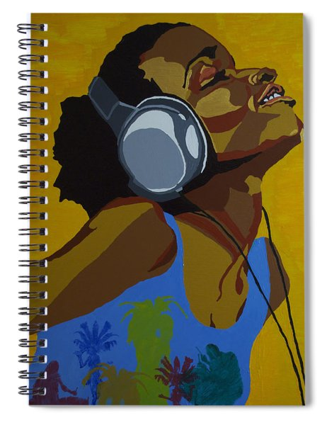Rhythms In The Sun Spiral Notebook