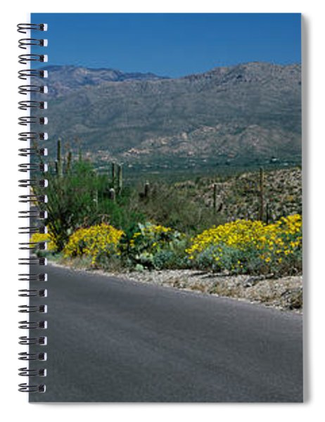 Road Passing Through A Landscape Spiral Notebook
