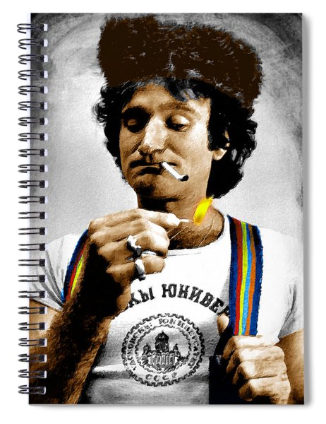 Robin Williams And Quotes Spiral Notebook